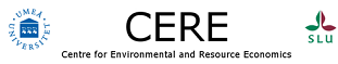 CERE - the Center for Environmental and Resource Economics